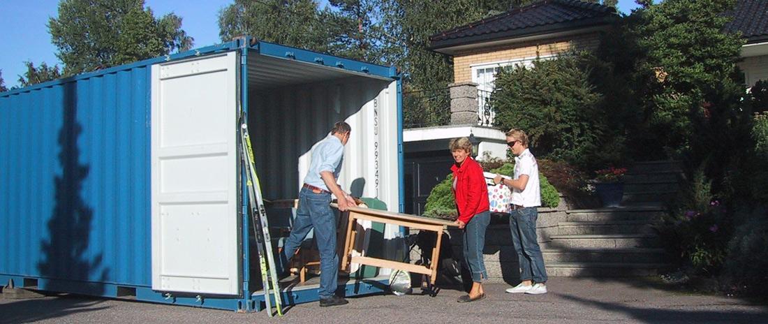 Plassere bort dine møbler over en lengre eller kortere periode.
