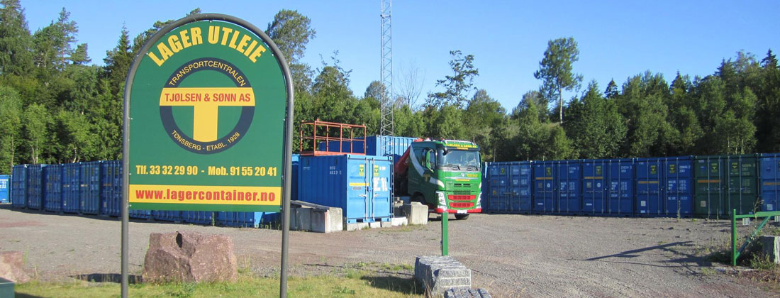 Utleie av lagercontainere til både firmaer og privatpersoner